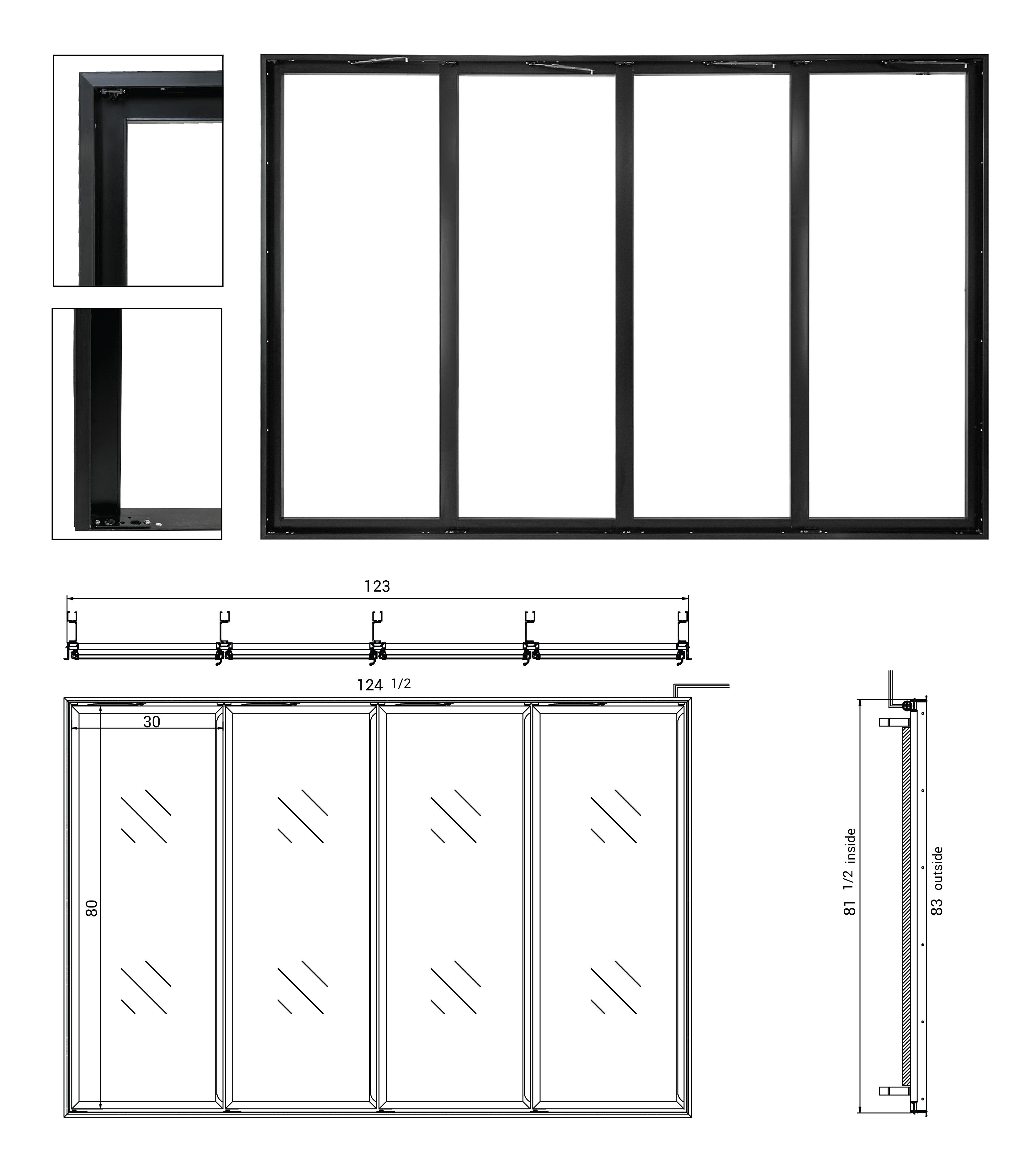4 Door Frame Specs_vs2-01  sc 1 st  glass doors \u2013 RW International & RW International - Glass Door Frames