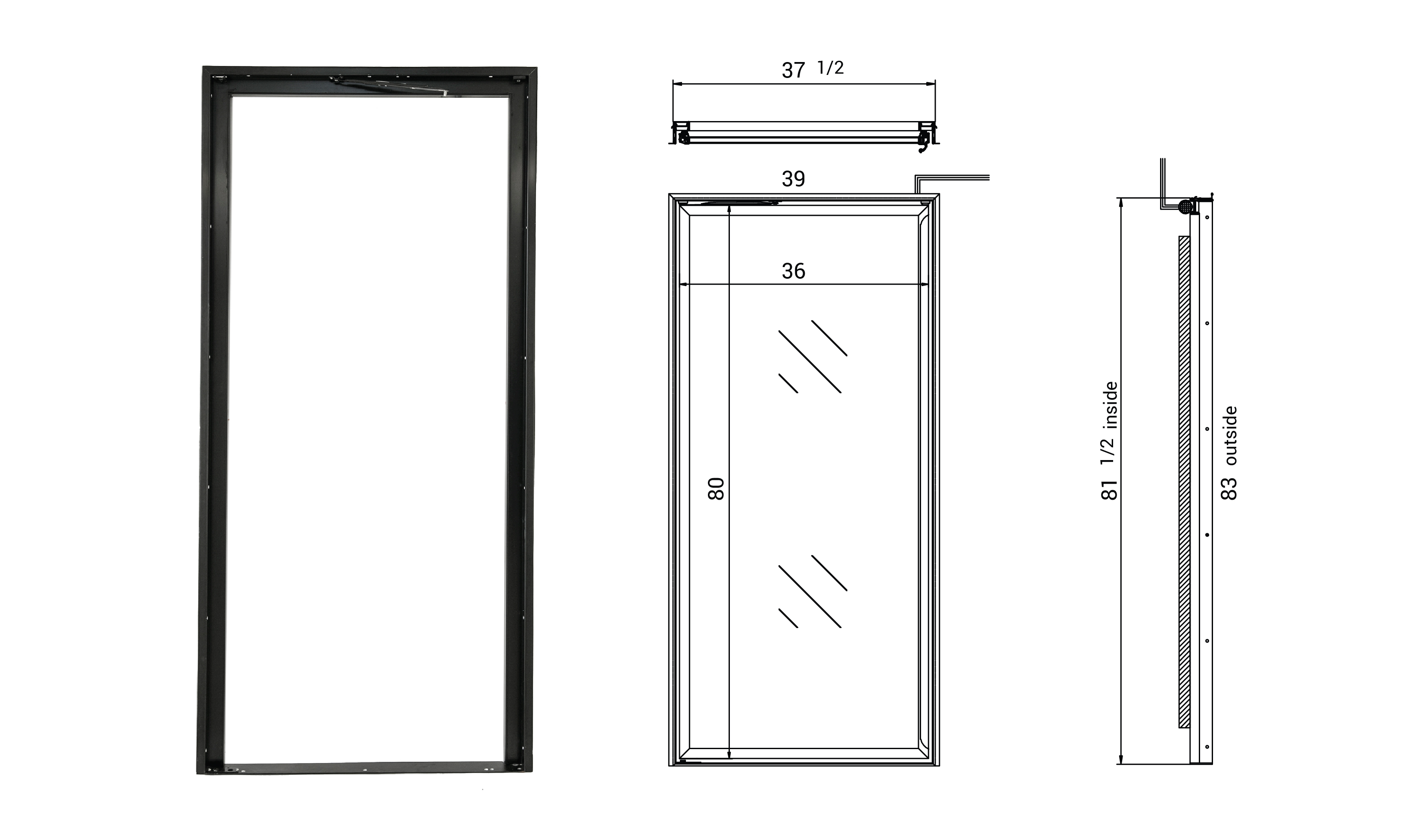 rw international glass door frames